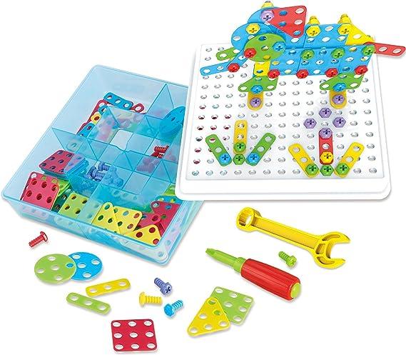Think Gizmos Juguete Creativo de Construcción 3D para niños y niñas TG658 – Regalos de Desmonte y Monte de Construcción Niños y Niñas de Edad 3,4,5,6,7+ - Juguetes de Construcción Interactivos: Amazon.es: