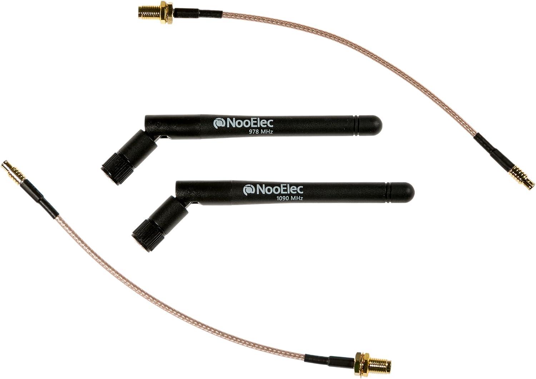 1090 MHz und 978 MHz Bundle Antenne f/ür SMA und MCX-Connected Software Defined Radios NooElec ads-B Entdeckung 5 dBi High Gain Bundle Antenne SDRs