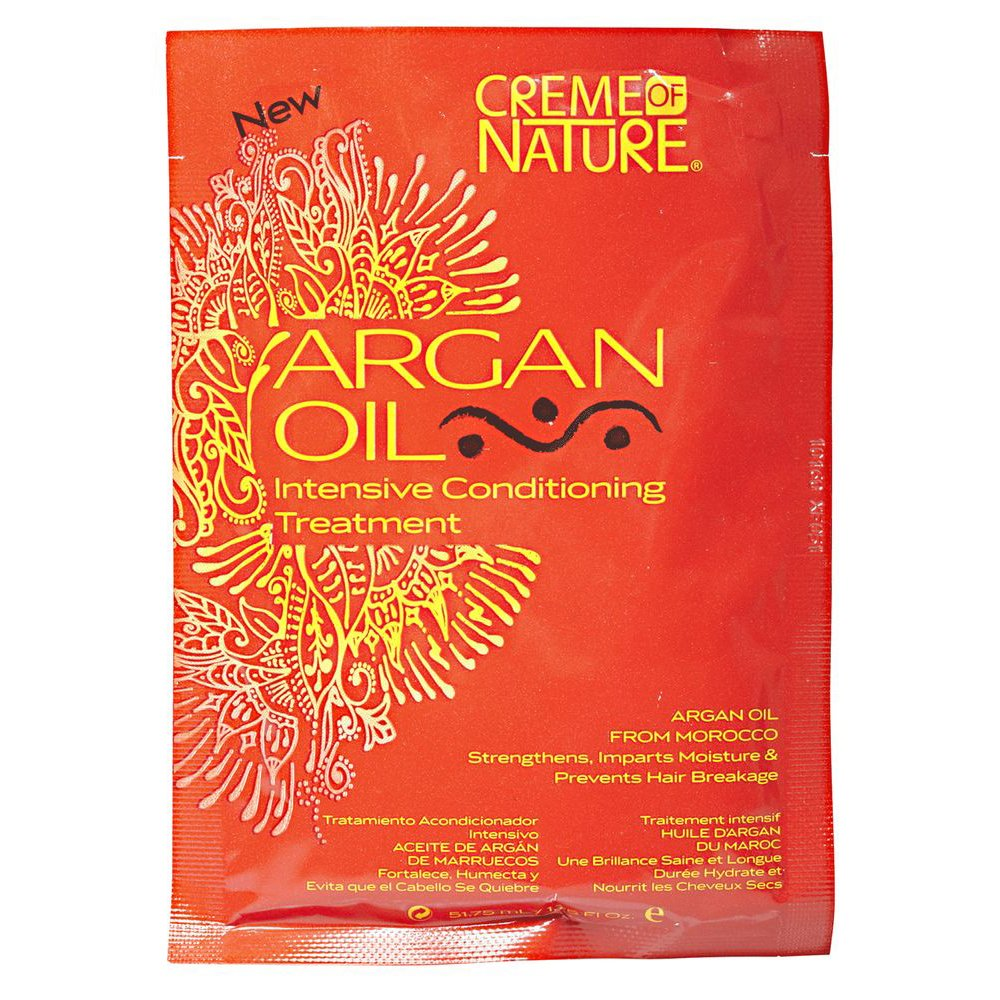 Amazon.com : Creme of Nature Argan Oil Intensive Conditioning Treatment, 1.75 oz (Pack of 2) : Beauty