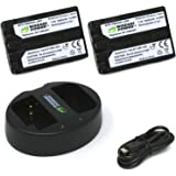 Wasabi Power Battery (2-Pack) and Dual Charger for Sony NP-FM500H