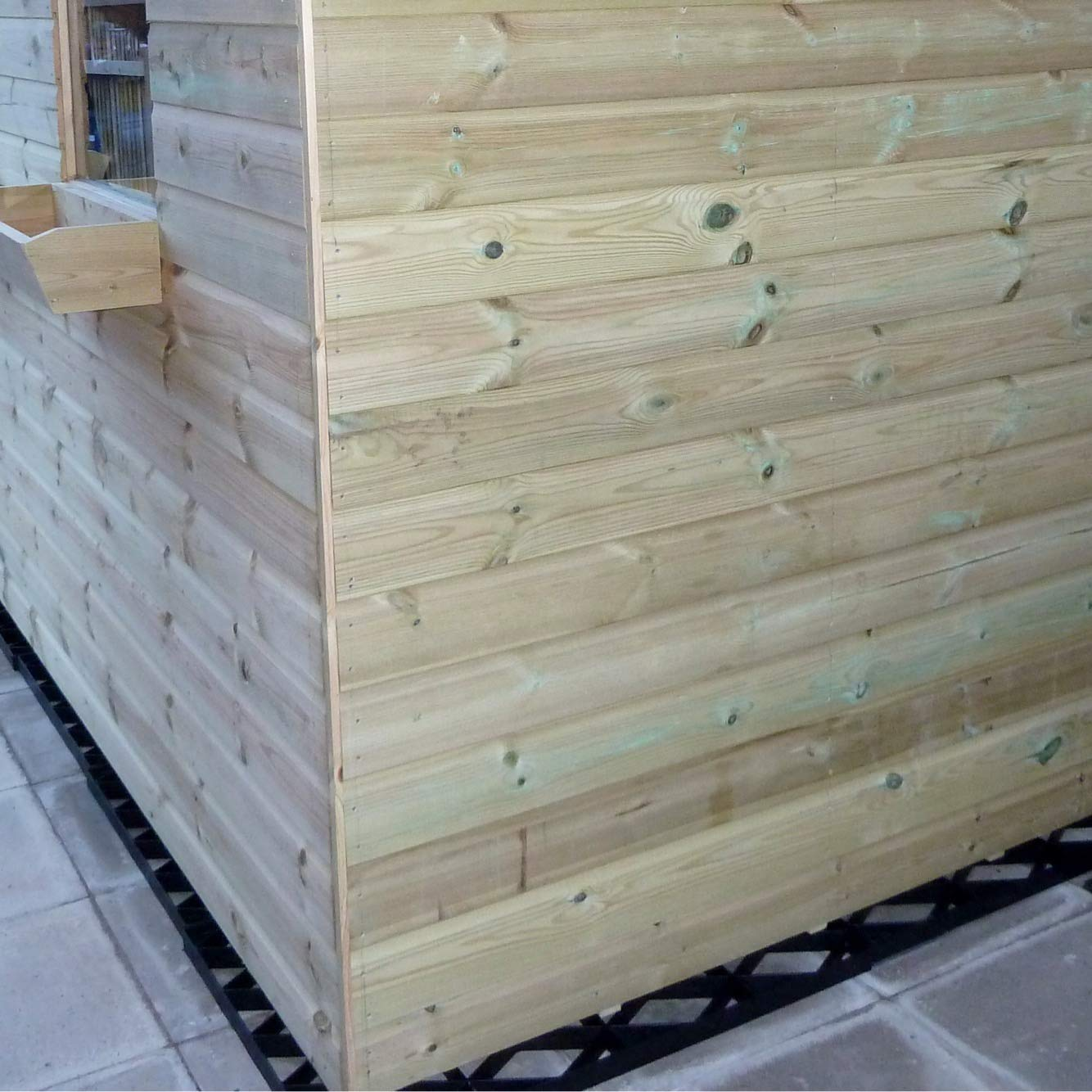 10x10 Feet Garden Shed Base Grids Heavy Duty Full Eco Kit 3.00 x 3.00 Meter Greenhouse Plastic Eco Paving with Included Membrane