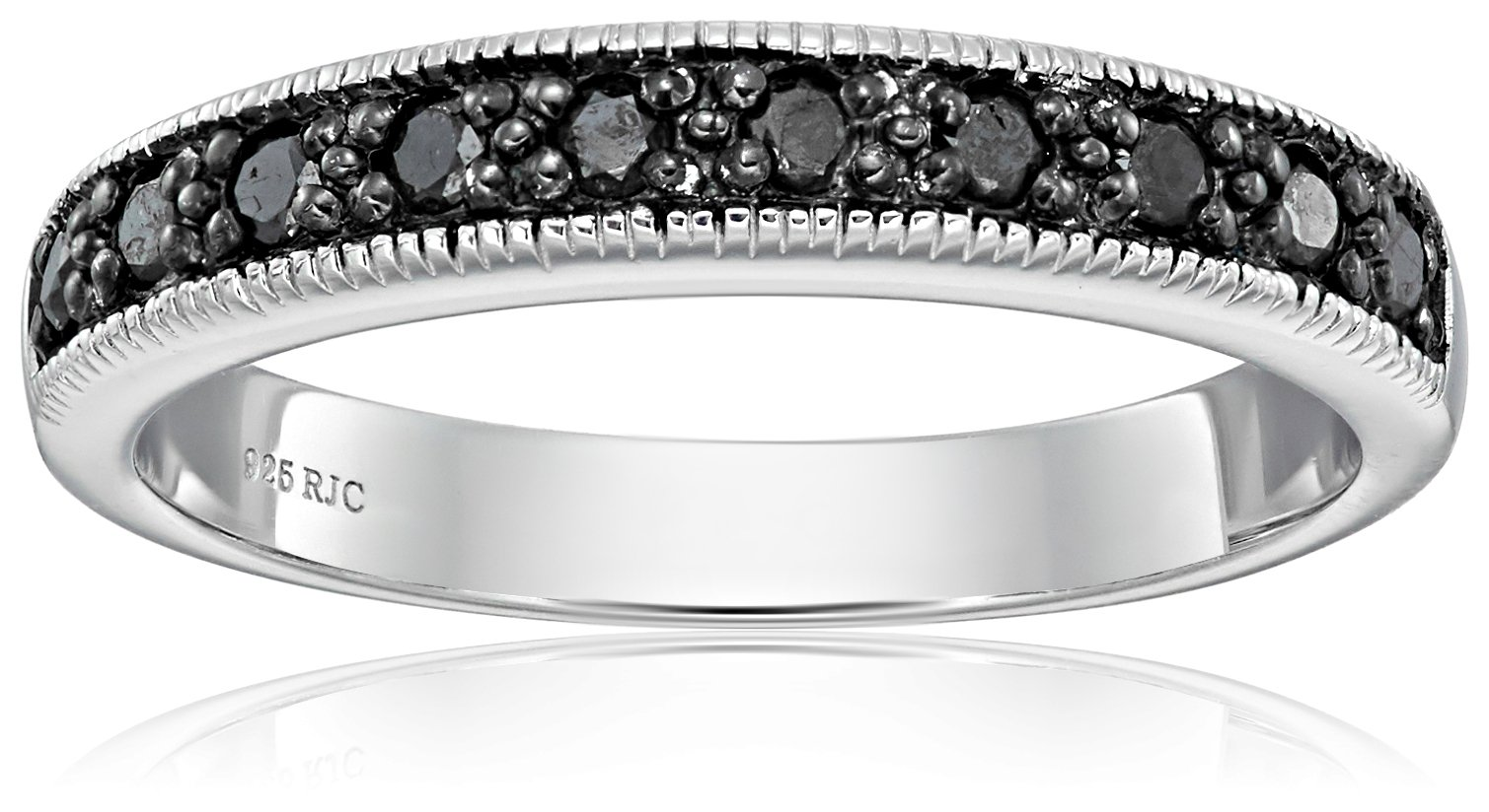 Sterling Silver Diamond Wedding Band (1/4cttw, I2 Clarity), Size 9