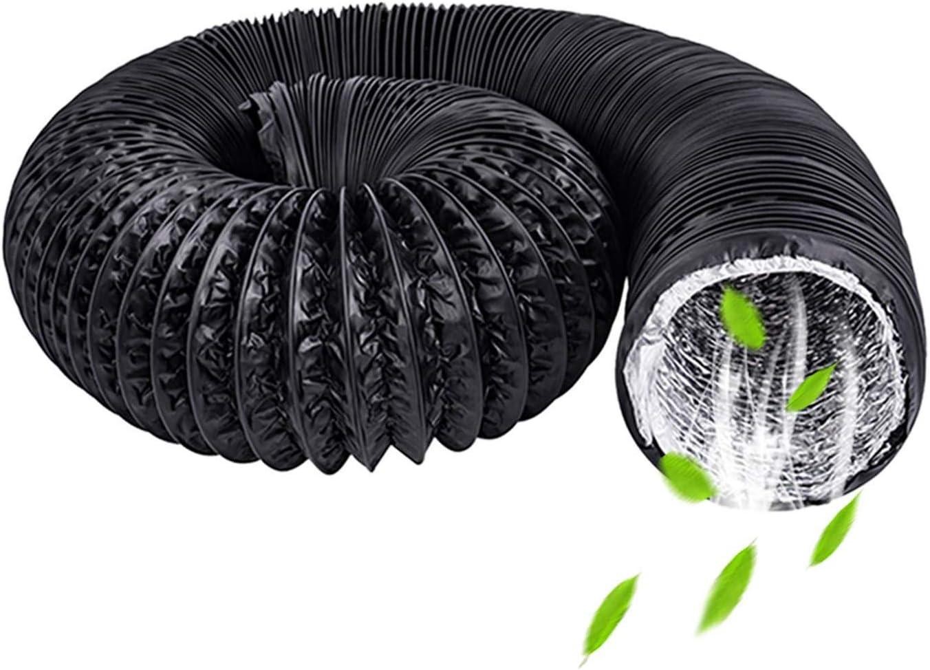 HG Power - Tubo Flexible para Salida de Aire Manguera de PVC de 75 mm con Aislamiento de Aluminio de Calidad Profesional, Schwarz PVC Schlauche, Lange: 5m/16ft & Durchmesser: 75mm/3 zoll
