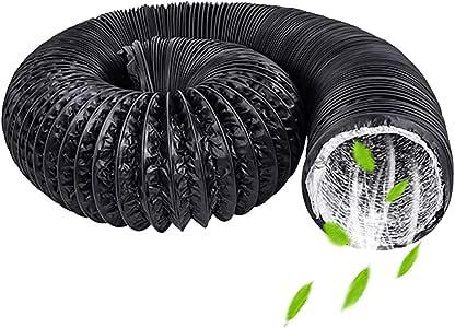 Conducto de ventilador, conducto de ventilación flexible de aluminio de 100 mm, conducto de aire de PVC para baño, cocina, inodoro, conducto de ventilador extractor hidropónico (φ4