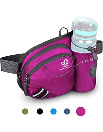 3cfc5614159 Waterfly Hiking Waist Bag Fanny Pack with Water Bottle Holder for Men Women  Running & Dog