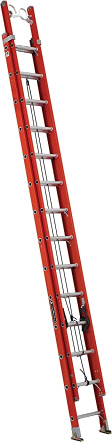 Louisville escalera fe3228-e03 Cable de escalera extensible de fibra de vidrio con gancho y v-rung adjunta, 300 Libra de calificación: Amazon.es: Bricolaje y herramientas