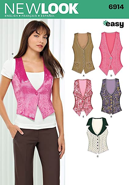 8c9481034ffb29 Amazon.com  New Look Sewing Pattern 6914 Misses Tops