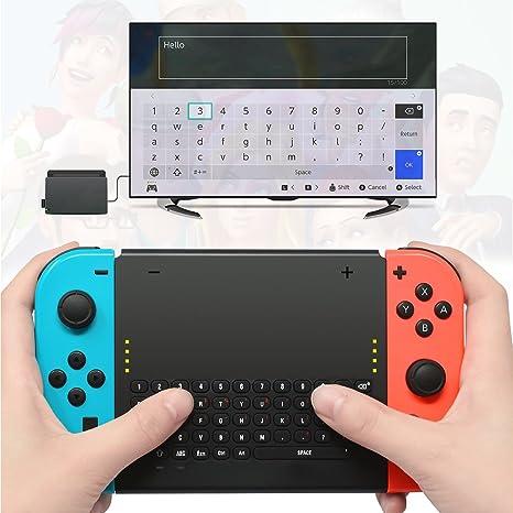 The perseids Teclado Inalámbrico para Nintendo Switch, Wireless Gaming Keyboard con 2.4G USB Receptor Mango Recargable