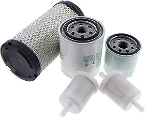 JEENDA Filter Kit HH150-32430 K1211-82320 12581-43012 HHK20-36990 for Kubota BX1500D BX1800D BX1830D BX1850D BX1860 BX2230D BX2350D BX2360 BX2370 BX24D BX25 G2160 GR2110 GR2120 ZD18 ZD18F ZD21 ZD21F