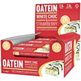 Oatein High Protein Low Sugar and Low Carb Bar, White Chocolate/Strawberry, Box of 12x60g