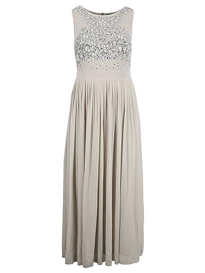 4c87357a73 Lovedrobe Luxe Women's Plus Size Grey Sleeveless Embellished Maxi Dress ...