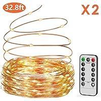 Guirnalda luces pilas【2 * 10M】, OxaOxe 200 LED