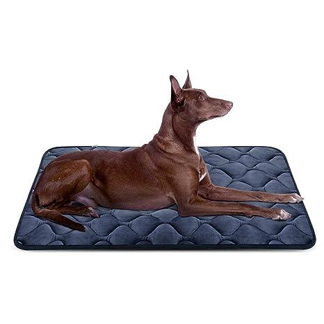 Hero Dog Cama Colchoneta Perro Grande Lavable L, Cojines para Mascotas Antideslizante Vellón Almohadilla Suave 107x70 cm