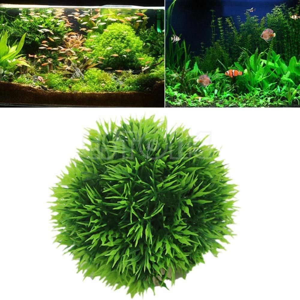 Planta Artificial de bobal de Pescado Bola de Espuma Hierba de decoraci/ón para Acuario Gshy Bolas de 6 cm