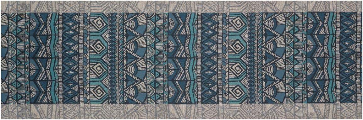 BIANCHERIAWEB Tappeto Passatoia in Tessuto Jacquard Linea Emozioni Disegno Malindi Blu 57x50 Blu