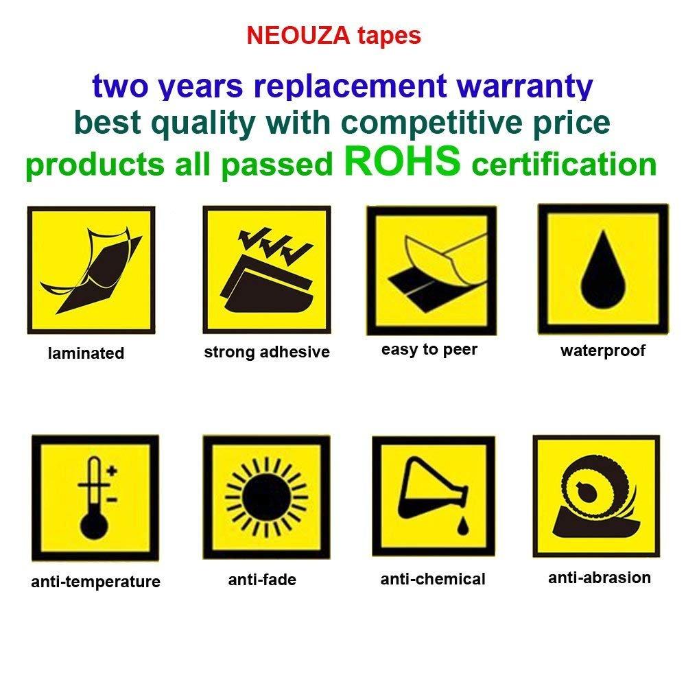 TZe-B41 Black on Orange Fluorescent NEOUZA 5PK Compatible For Brother P-Touch Laminated TZe TZ Label Tape Cartridge 18mm x 5m