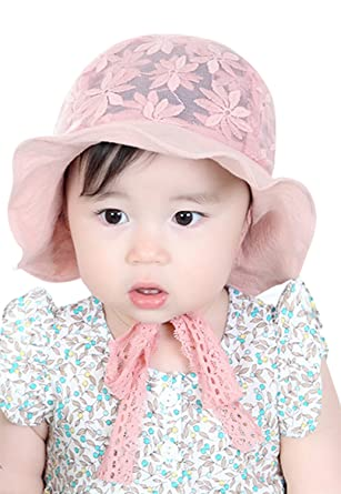 14a7ac4b0e0 Amazon.com  Little Girls Kids Floppy Brim Sun Hat Reversible Size ...