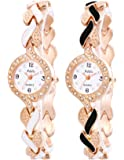 Addic Quartz Analogue White Dial Women's Watch -Combo of 2