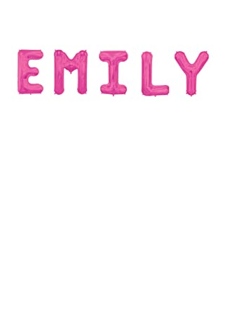 "Amazon.Com: Jumbo 34"" Letter Name Balloons ""Emily"" Birthday"