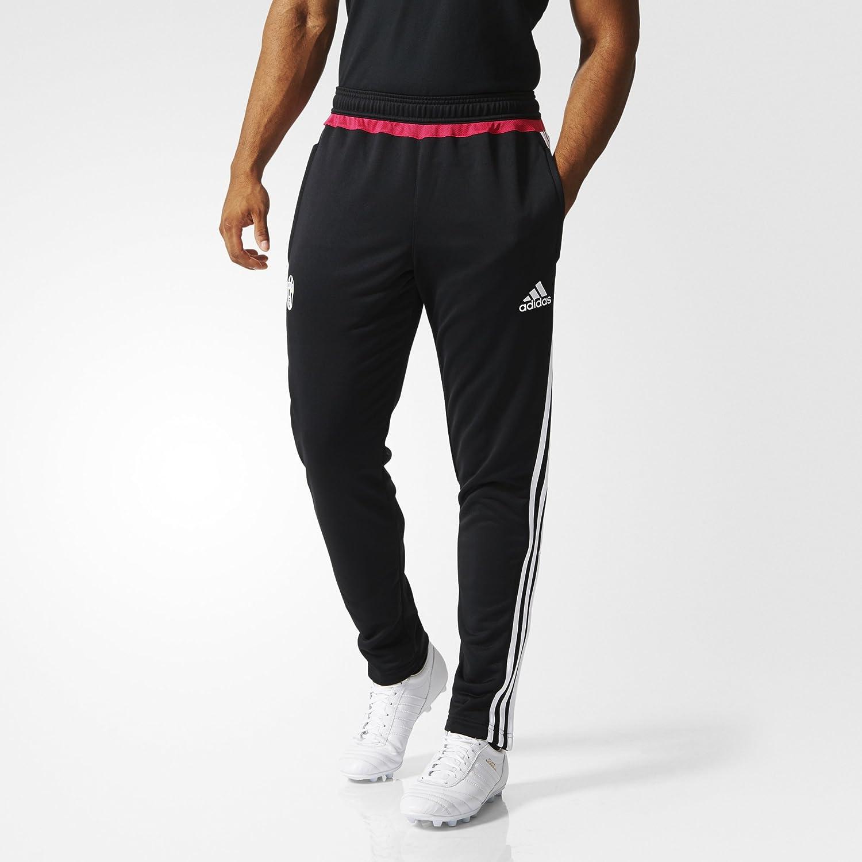 adidas TRG Juve–Men's Trousers, Black/White/Pink Juve TRG
