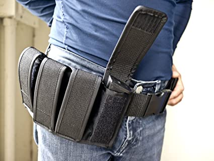 Quad Magazine Pouch 9 mm//40 S/&W//45 ACP double Stacked magazines