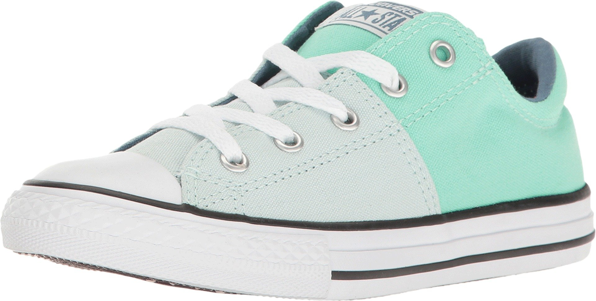 Converse Chuck Taylor All Star Madison OX (2 Little Kid M, Fiberglass/Green Glow/Blue)