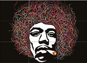 Doppelganger33 LTD Arty Jimi Hendrix Wall Art Multi Panel Poster Print 50x35 inches