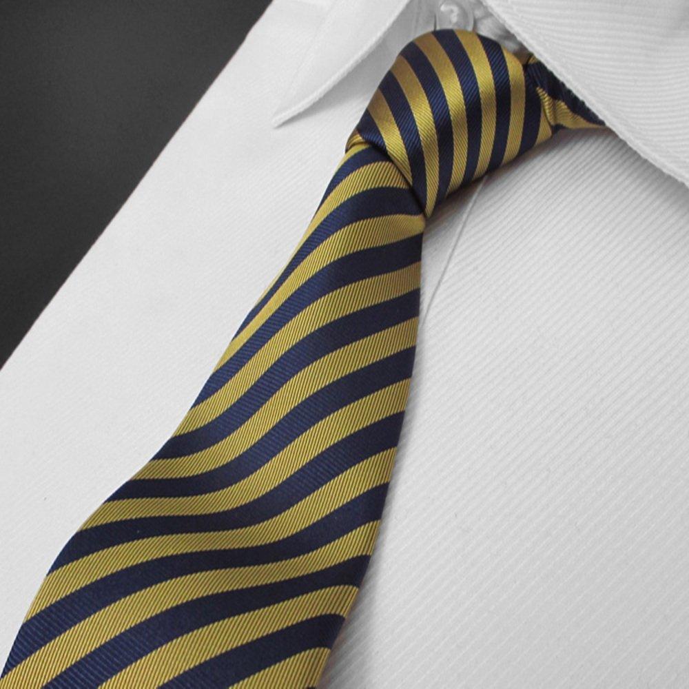 Neck Bowtie Men Tie Fashion Casual Small Tie Groom Wedding Yellow Striped Tie Narrow Edition Gentleman Fashion Accessory