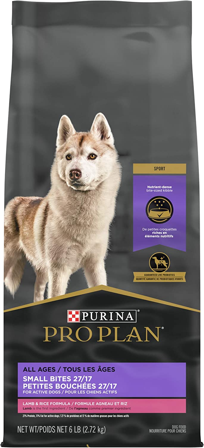 Purina Pro Plan High Protein, High Energy Dry Dog Food, Small Bites Lamb & Rice Formula - 6 lb. Bag