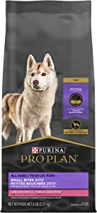 Purina Pro Plan High Protein, High Energy Dry Dog Food, Small Bites Lamb & Rice Formula - 6 lb. Bag