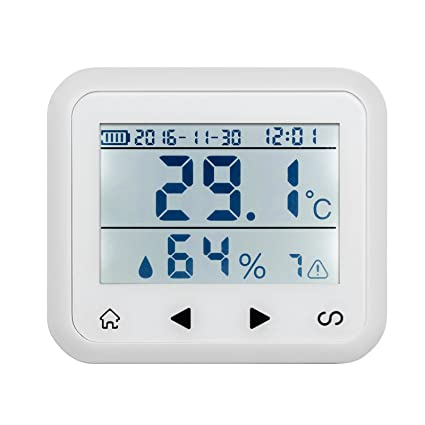 KERUI TD32 Wireless LED Display Temperature and Humidity Security Alarm Sensor Battery-powered for Home Greenhouse