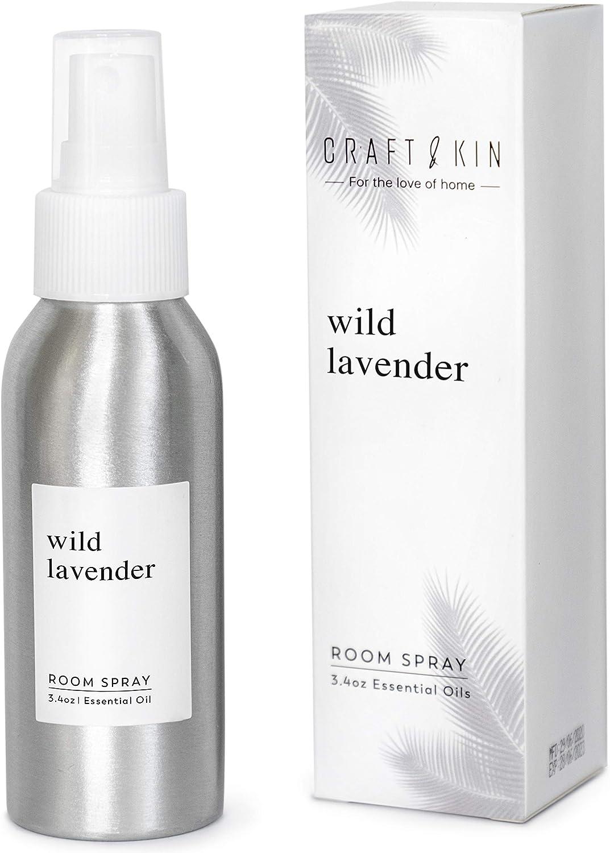 Lavender Pillow Spray Room Spray | Pure Lavender Essential Oil Spray | Linen Spray, Pillow Mist Sleep Spray, Lavender Spray for Sleep and Relaxation, Aromatherapy Spray - Non-Aerosol (3.4 oz)