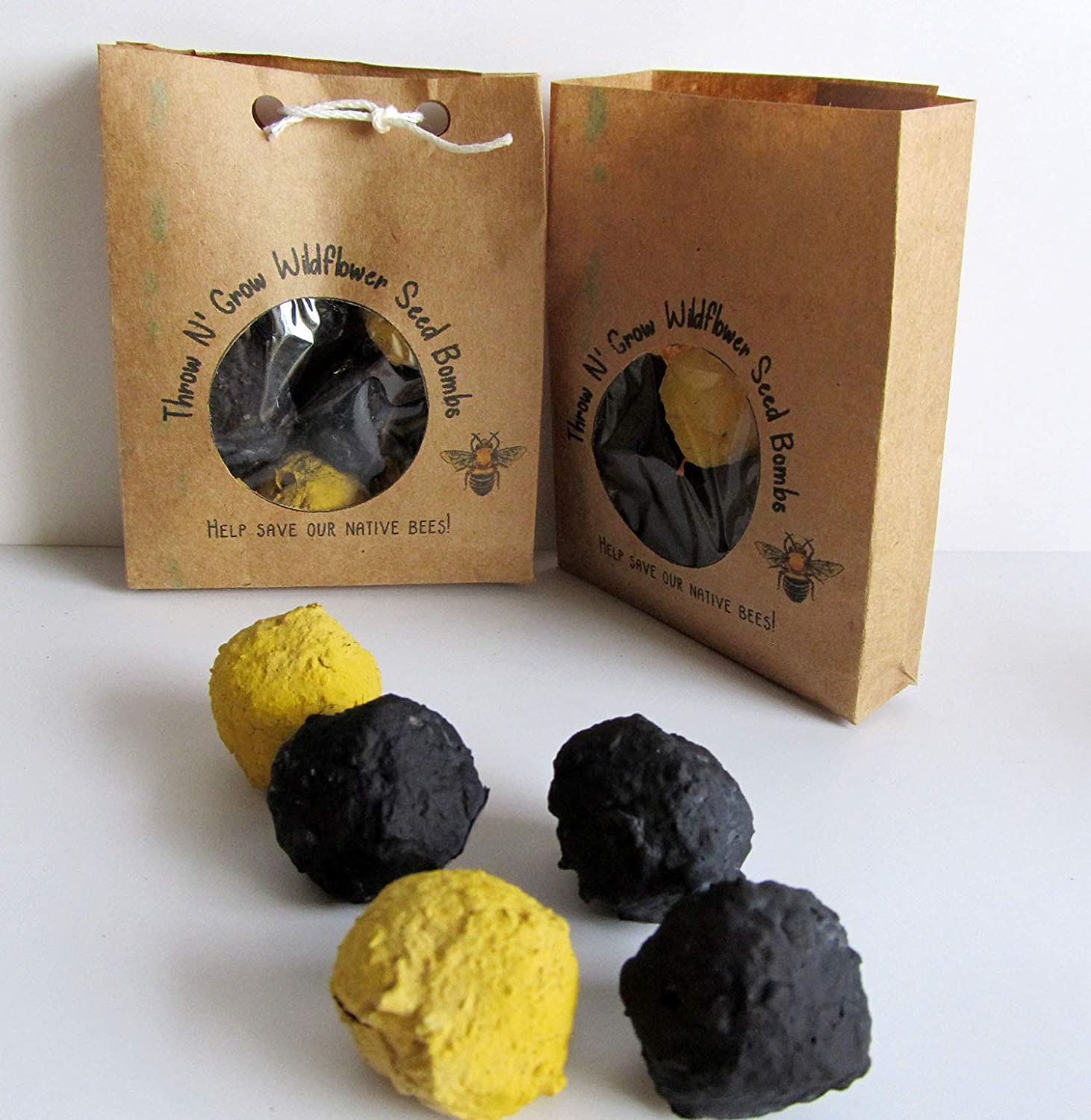 White Clover lawn seed bomb gift box of 60 seed bombs Save the Bees