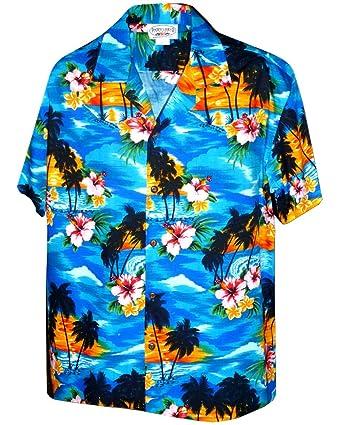 701ea754 Pacific Legend Sunset Beach Palm Tree Hawaiian Shirt at Amazon Men's  Clothing store: