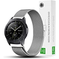 Mifan Official Milanese Loop Band for Samsung 2018 Galaxy Watch 42mm Replacement Strap 20mm Mesh Stainless Steel Anti Sweat Cooling Wristband Bracelet with Magnetic Clasp Silver