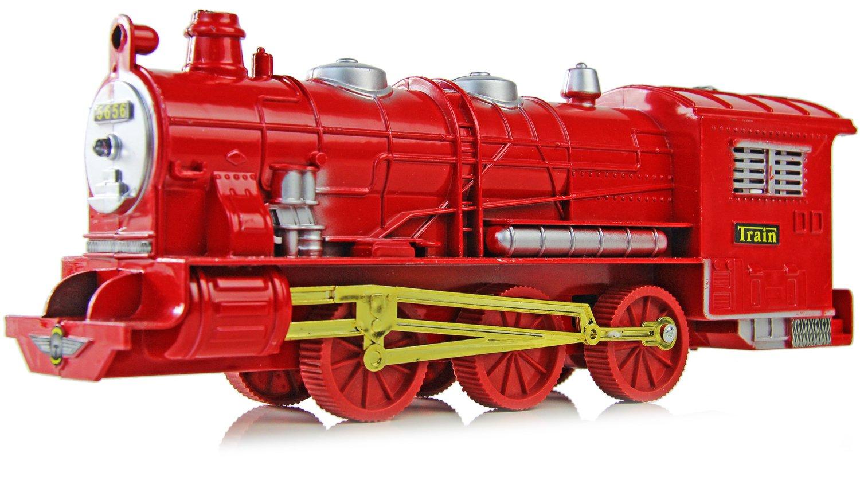 Spielzeug Zug Train mit Ton und Licht ROT NICK AND BEN