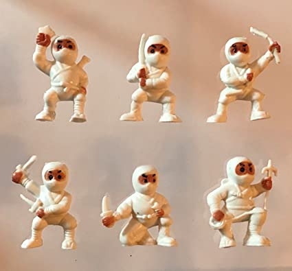 40 White Mini Karate Ninjas Warriors Fighters Figures Cupcake Cake Toppers Ninja Kung Fu Guys Martial Arts Men Lot Party Favors