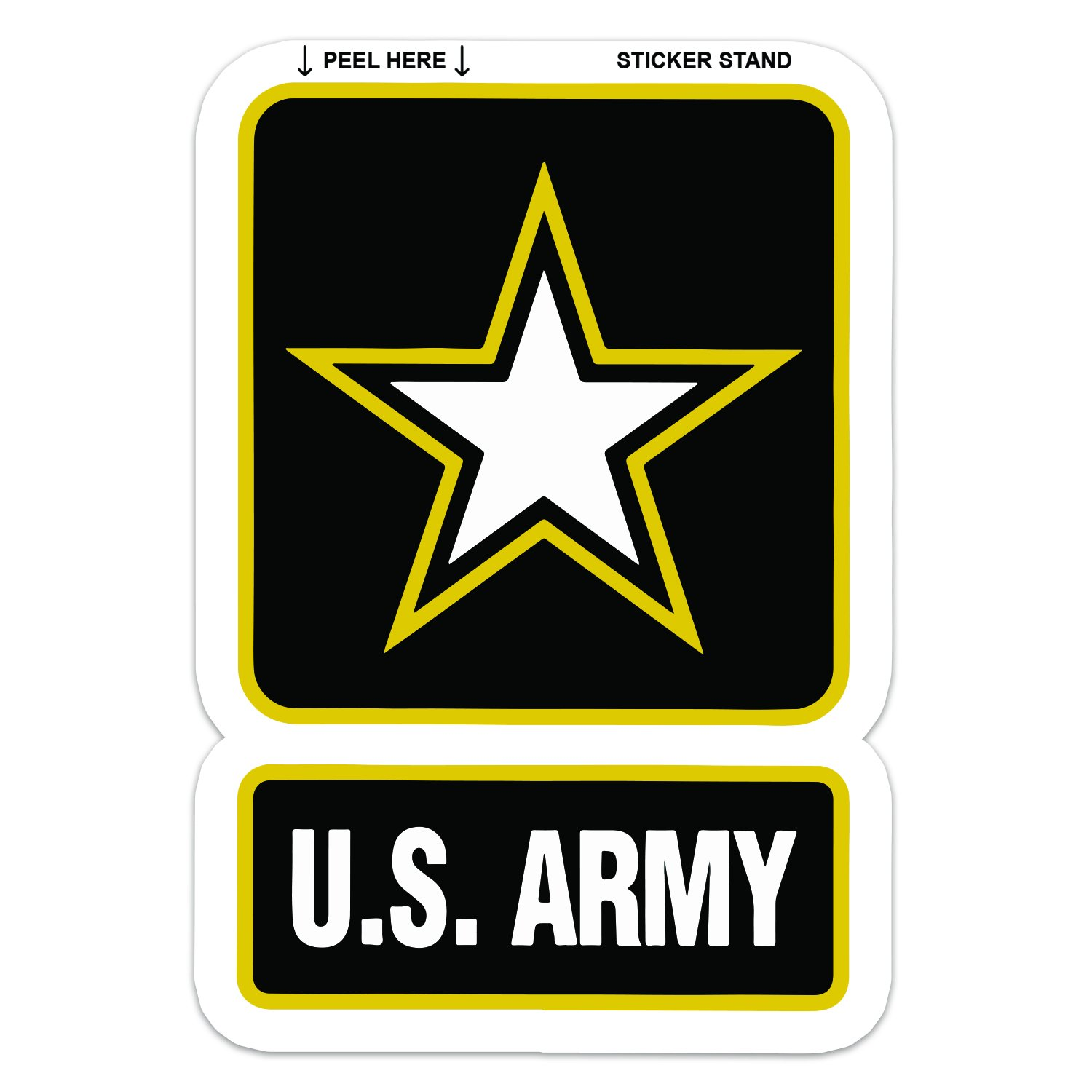 U s army car decal sticker