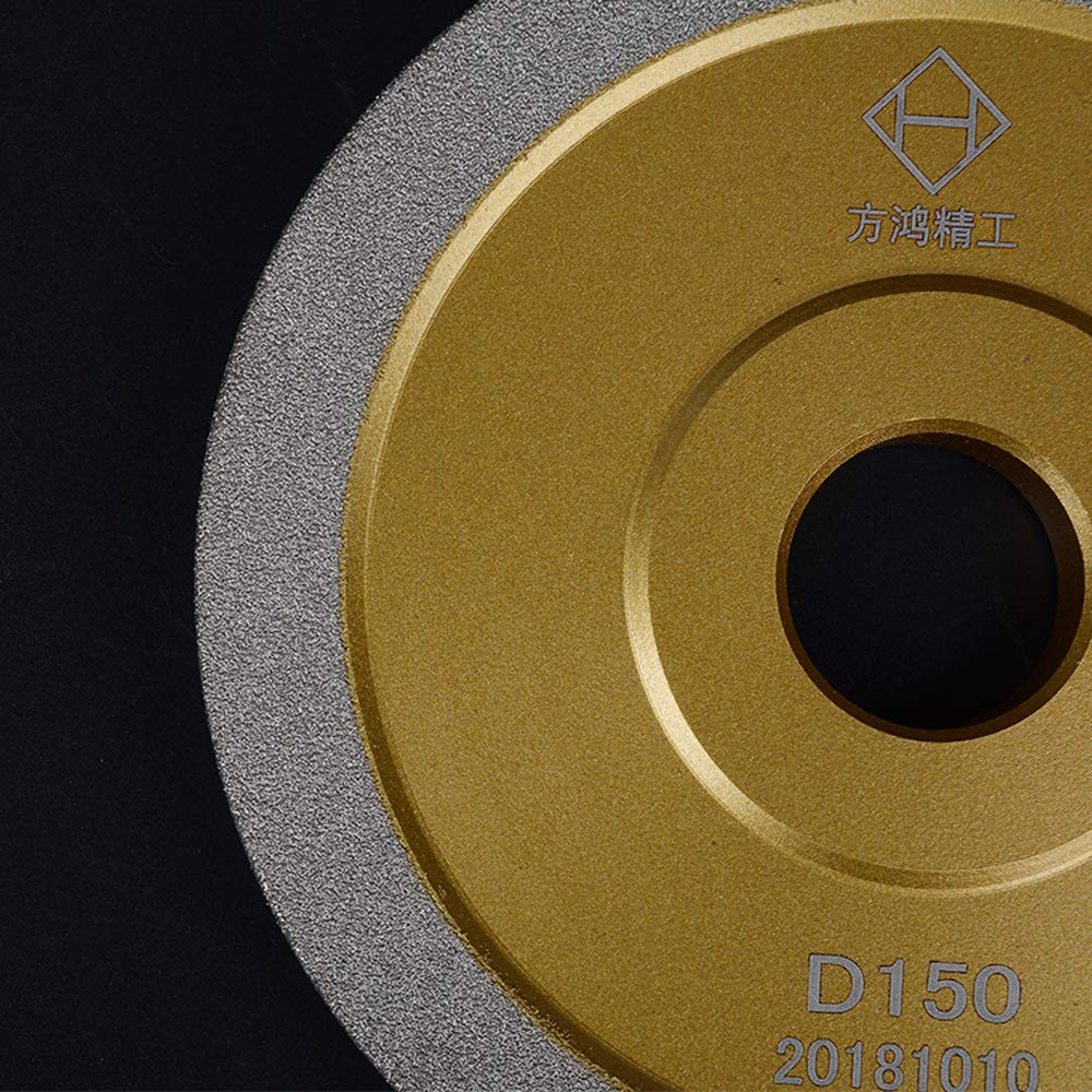 5 Inch Brazed Diamond Grinding Wheel Cutter Grinder Tool Diamond Grinder Wheel Flat Wheel Grit 320 (Gold, 5 inch (125mm)) by B.M. Choice
