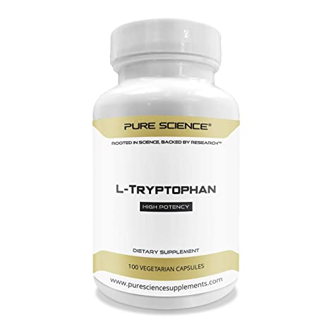 Pure Science L – Triptófano 1000 mg – Regula el Estado de Ánimo, la Relajación