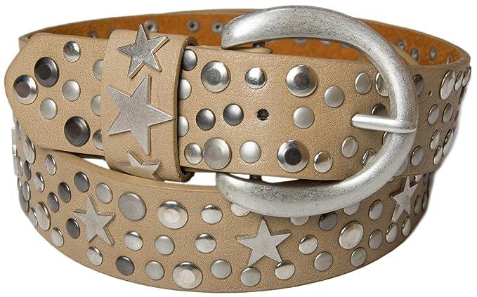 0e200a4d6eadf styleBREAKER Nieten Gürtel mit Sterne im Vintage Style mit echtem Leder