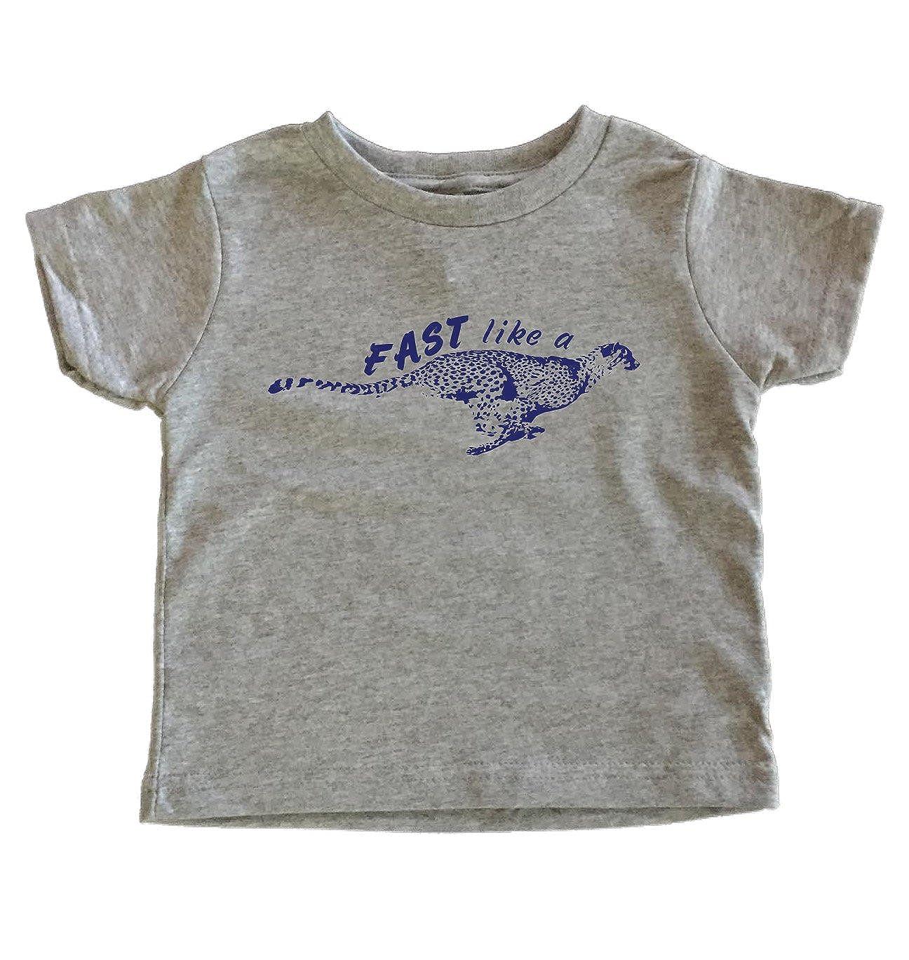 Amazon.com: teenow – rápido como un guepardo – niños/playera ...