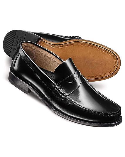 Charles Tyrwhitt - Mocasines de cuero para hombre negro negro, color negro, talla 40.5: Amazon.es: Zapatos y complementos