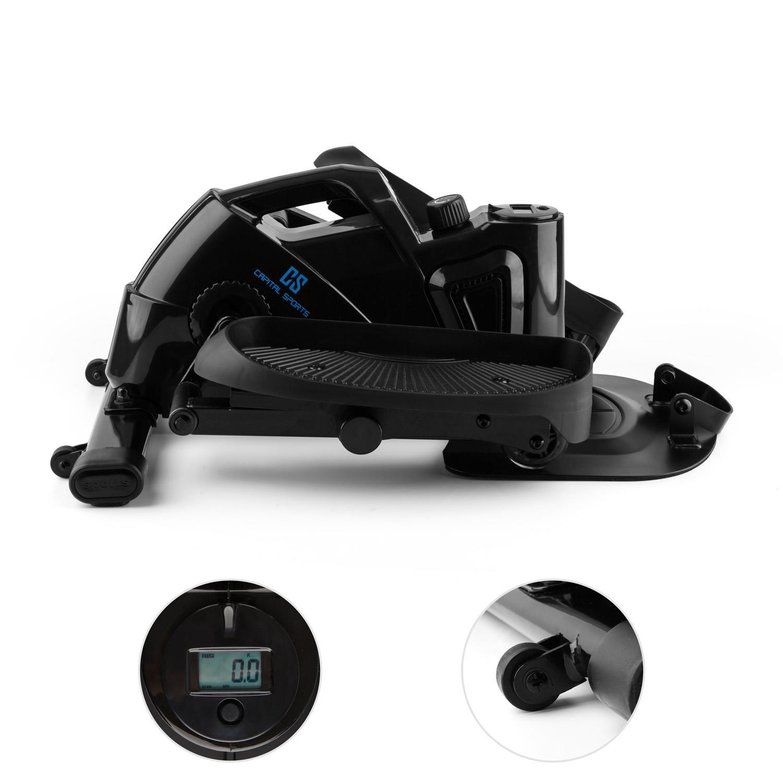Capital Sports Mininoval Mini Bike Bicicleta elíptica stepper (entrenamiento en casa, ordenador con pantalla, pedales y, resistencia magnética regulable) ...
