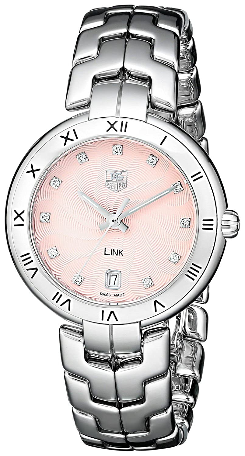 c627e2aa152 Amazon.com  Tag Heuer Link Pink Dial Stainless Steel Quartz Woman s Watch  WAT1313.BA0956  Tag Heuer  Watches
