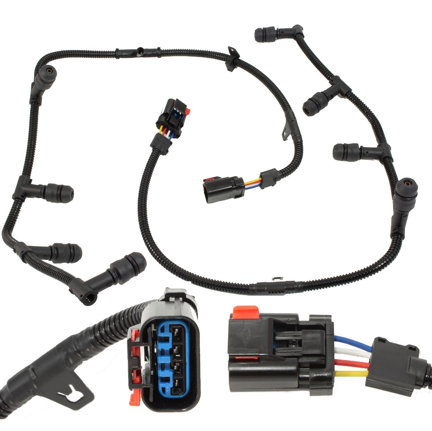 Michigan Motorsports Glow Plug Wiring Harness Assembly - Fits 2004-2010 Ford F250 F350 F450 F550 E250 E350 E450 Econoline Excursion with 6.0L Powerstroke Diesel