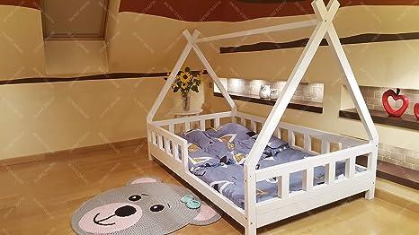 Amazon.com: Tipi cama con barreras, para niños, cama, cama ...