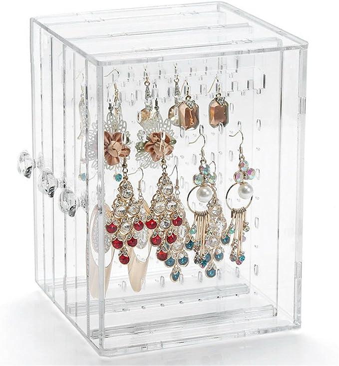 Acrílico caja de joyería/pendientes expositor pendientes caja de ...