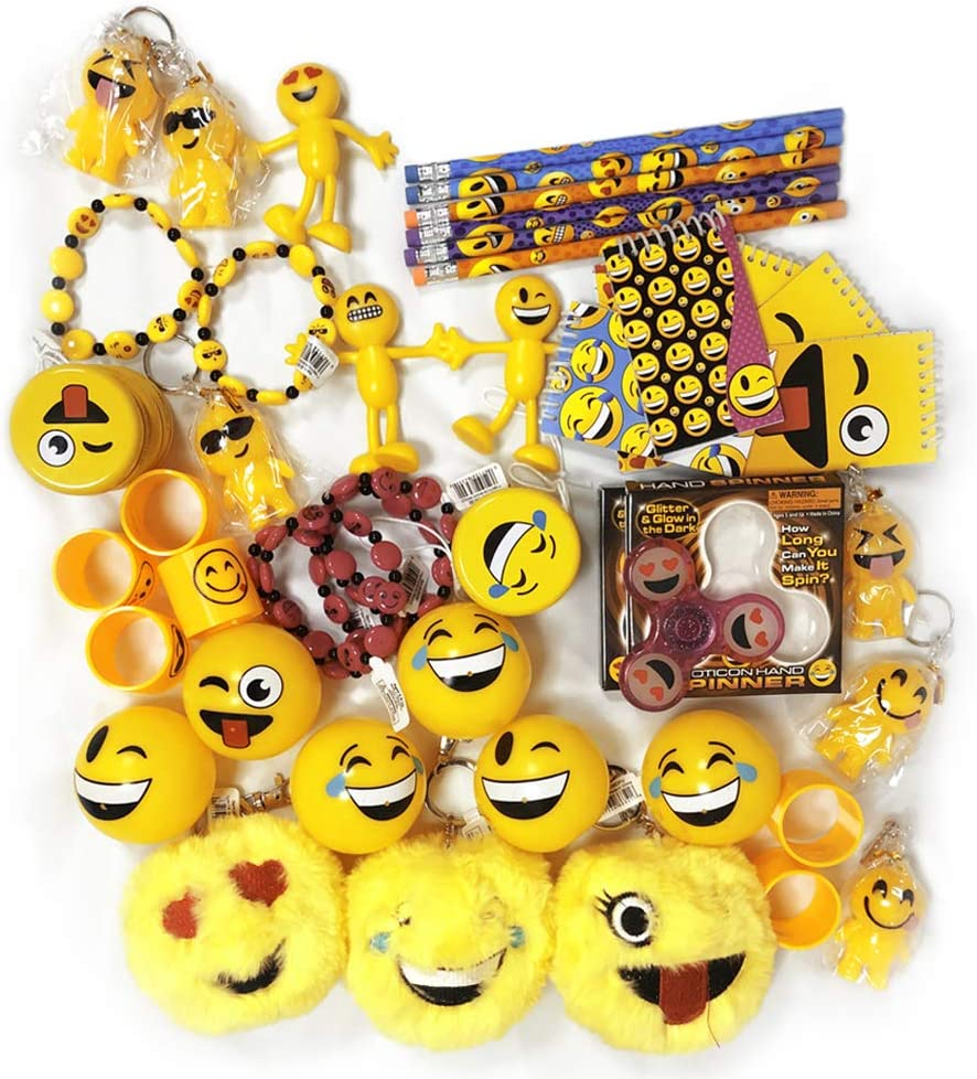 Kicko Assorted Emoticon Party Supplies - 50 Pieces - Cool and Fun Emoji with Multiple Smile Faces - Party Favor, Party Bag Stuffer