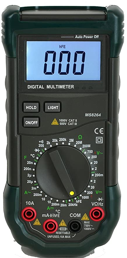 Mastech 30-range digital multimeter with capacitance measurement.